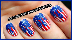4th of july drip nail art youtube