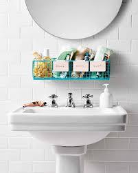 Organizing Ideas For Bathrooms by Bathroom Organization Tips Martha Stewart