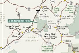 map of zion national park directions zion national park u s national park service