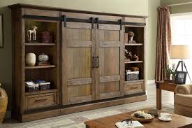 Entertainment Armoire With Pocket Doors Wall Units Interesting Rustic Wall Units Rustic Wall Units