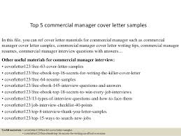 Commercial Manager Resume Top 5 Commercial Manager Cover Letter Samples 1 638 Jpg Cb U003d1434616342