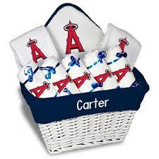 Baseball Gift Basket Personalized Mlb Batter Small Baby Gift Basket