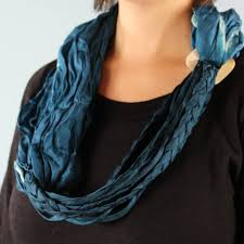 braided scarf braided scarf necklace teal folly