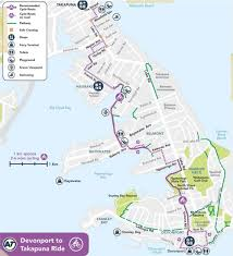 Ups Route Map by Devonport To Takapuna Green Route