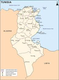 tunisia physical map maps of kairouan