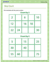 skip count u2013 free skip counting worksheet for preschool u2013 jumpstart