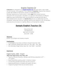 Esl Resume Sample by Cv Sample For Fresher Teacher Cv For Lawyers Example Substitute