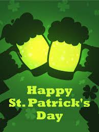 cheers green beer happy st patrick u0027s day card birthday