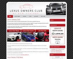lexus club nz website development and design portfolio internet agency