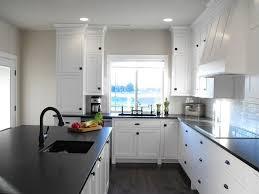 black walls white kitchen cabinets black counter owners kitchens forum gardenweb greige