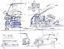 gordon murray sketches his new t25 city car carzi