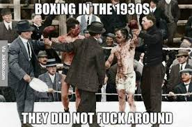 Boxer Meme - boxing in the 1930s meme