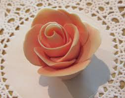 how to make fondant roses without any tools youtube