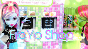 diy how to make doll froyo shop handmade doll crafts