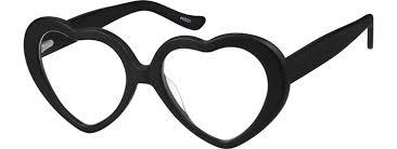 black friday eyeglasses red prescription heart shaped glasses 44202 zenni optical