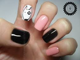 nail art bull terrier le thor tutorial nail art