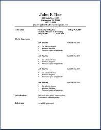 basic sample resume format graduate resume template student