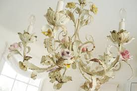 porcelain chandelier roses such pretty things my new chandelier