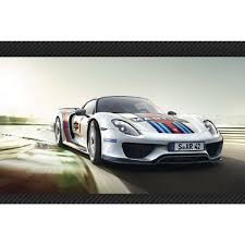 martini porsche 918 framed porsche 918 spyder martini race car stretched canvas art