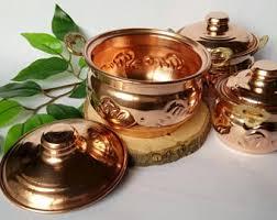 copper canister set kitchen copper canister etsy