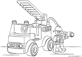 lego fire truck city coloring pages printable