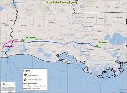 bayou map this map shows all of louisiana s major and gas pipelines