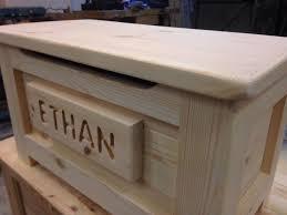 Solid Pine Ottoman Handmade Solid Wooden Pine Box Ottoman Adam Boxes