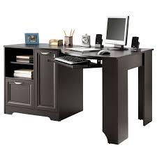 Corner Desk L Shaped Corner Desk With File Cabinet Espresso Best Home