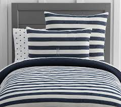 Navy Quilted Coverlet Red Stripe Bedding Pottery Barn Kids