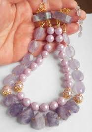 shell pearls necklace images Rose quartz shell pearls necklace jewellery pinterest rose jpg