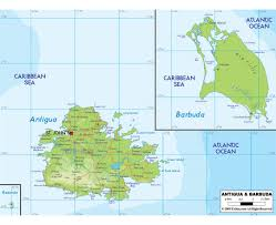 Physical Map Of North America by Maps Of Antigua And Barbuda Detailed Map Of Antigua And Barbuda