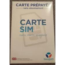 Carte Sim Sfr 5 Euros De Communications Pas Cher Carte Sim Prépayée Bureau De Tabac