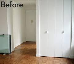 Wall Closet Doors How To Give Boring Closet Doors An Inexpensive Architectural