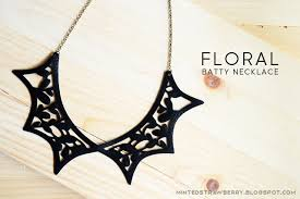 leather bib necklace images Diy floral batty bib necklace minted strawberry jpg