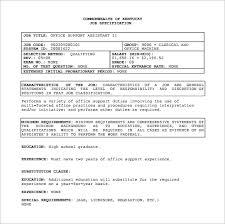 11 office assistant job description templates u2013 free sample