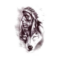 temporary wolf indian wolf artwear