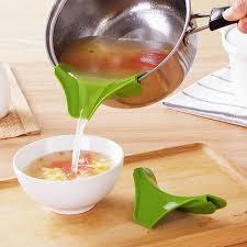 entonnoir cuisine anti déversement cuisine entonnoir gadget silicone slip sur bec