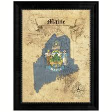 home decor gift items maine state vintage map gifts home decor wall art office