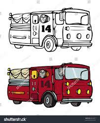 cartoon vector coloring book illustration fire stock vector