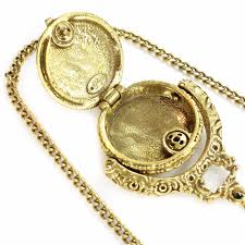 vintage locket pendant necklace images Vintage goldette perfume locket layered pendant necklace jpg
