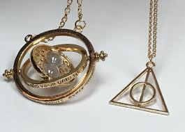 harry potter necklace images Harry potter time turner necklace gold deathly hallow charm jpg