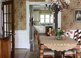 ralph lauren wallpaper dining room traditional with cottage floral