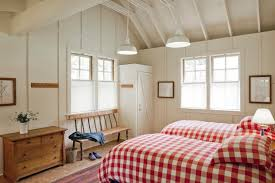 bedroom decor pendant light chest drawer pillow square pattern