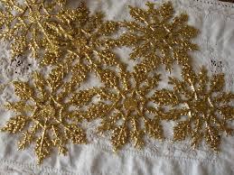 snowflake ornaments embellishments glitter snowflakes silver mini
