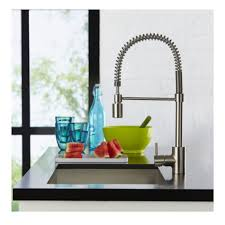 decor single handle danze kitchen faucet in silver for kitchen