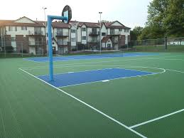 How To Build A Basketball Court In Backyard Backyard Basketball Court Installation Home Outdoor Decoration