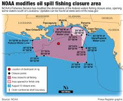 Gulf Of Mexico On Map by More Federal Waters Reopened To Fishing In Wake Of Gulf Oil Spill
