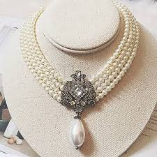 pearl necklace chokers images Party wear multi layer beads chain romantic choker simulated pearl jpg