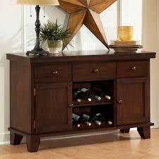 Dark Oak Bedroom Furniture Homelegance Ameillia 52 Inch Server W 2 Wine Racks In Dark Oak