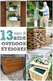 add curb appeal with these easy ways to hide outdoor eyesores like